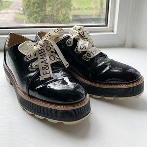 Zara paten leather shoes